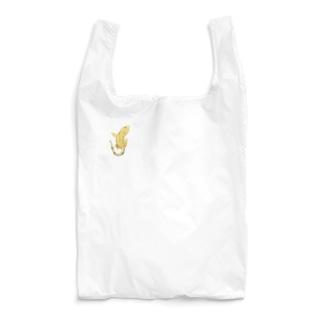 クレスが貼りついてますよ。イエロータイガー Reusable Bag