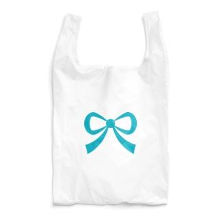 リボン🎀ターコイズ Reusable Bag