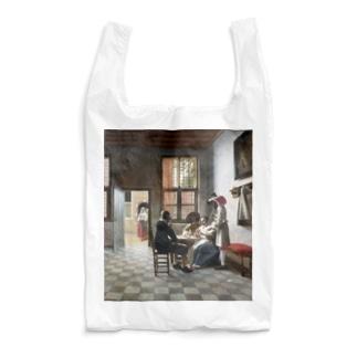 ピーテル・デ・ホーホ《陽の射す部屋でトランプに興じる人々》 Reusable Bag