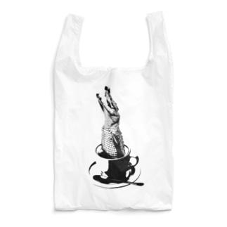 Crocochinno (Black) Reusable Bag