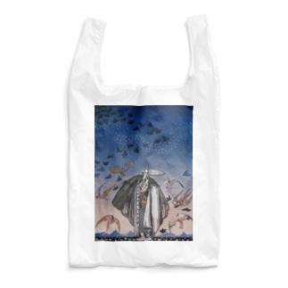 世界の絵画アートグッズのカイ・ニールセン《魔法の笛を吹く若い兵士と集まる鳥の群れ》 Reusable Bag