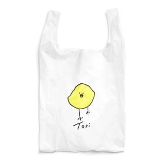 ゆっくりと近づいてくるTori-色淡大- Reusable Bag