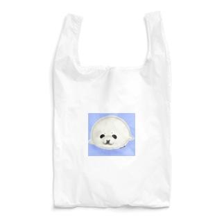 ベビーアザラシ背景あり Reusable Bag
