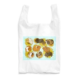 サマーカットモルとスキニーモルとひまわり Reusable Bag