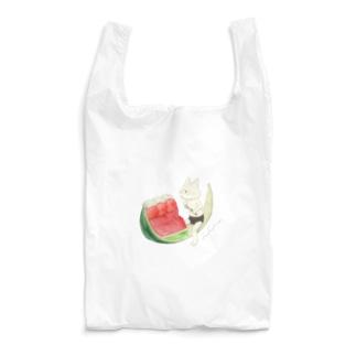 ネコぱんとスイカゼリー  Reusable Bag