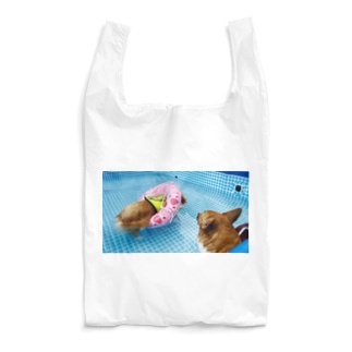 ちい むう ととろ Chi Mu Totoroの浮かぶ事に気付き  泳がなくなった犬 Reusable Bag