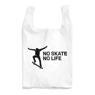 NO SKATE NO LIFE 黒ロゴ Reusable Bag