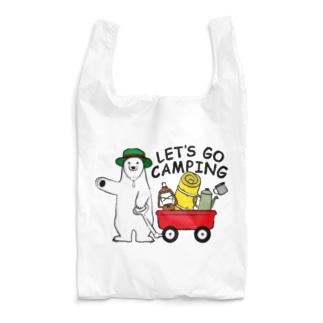 キャンプに行くシロクマさん Reusable Bag