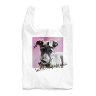 World everybody hello.|イタグレ Reusable Bag