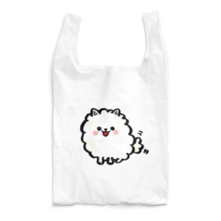 白いポメラニアン Reusable Bag
