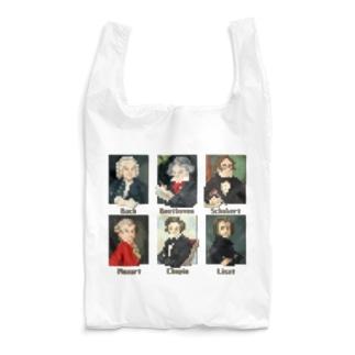 ドット 音楽室の肖像画 Reusable Bag