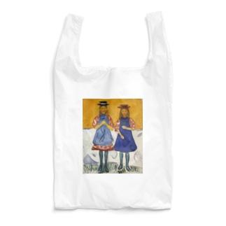 エドヴァルド・ムンク《青いエプロンの2人の少女》 Reusable Bag