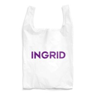 INGRID紫ロゴ Reusable Bag