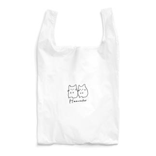 ご機嫌と不機嫌なHamusutar-黒小- Reusable Bag