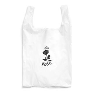 ローズ(ブラック) Reusable Bag