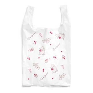 子猫mix チェリー柄 Reusable Bag