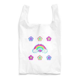 🌸キラキラお花🌸👾ドット絵👾 Reusable Bag