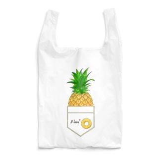 I love パイナップル エコバッグ Reusable Bag