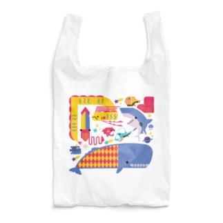 海のトワイライトな生き物 Reusable Bag