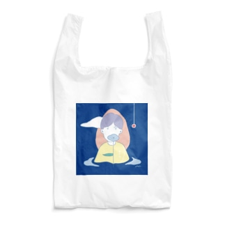 in the blue Reusable Bag