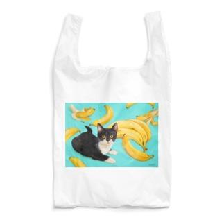 マスクネコとバナナ Reusable Bag