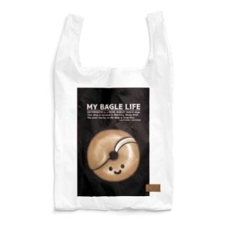 10点限定|もち麦亭ベーグルバッグ-黒 Reusable Bag
