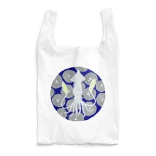 パンチニードル烏賊 Reusable Bag