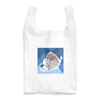 サメに遭遇した猫【背景あり】 Reusable Bag