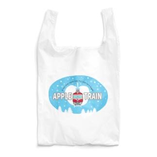 りんご電車(水色) Reusable Bag