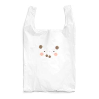 シルエットパンダ (輪郭なしの作品) Reusable Bag