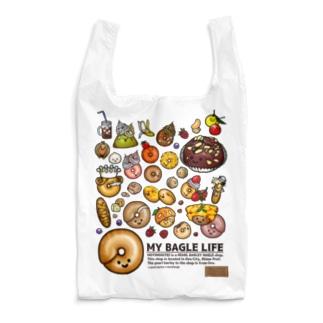 MicaPix/SUZURI店の10点限定 もち麦亭ベーグルいっぱいエコバッグ Reusable Bag