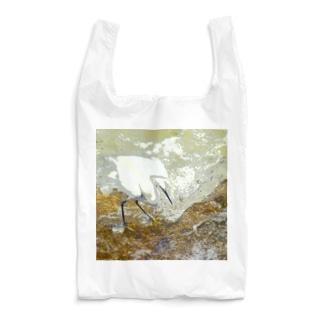 魚を狙うコサギ 1 Reusable Bag