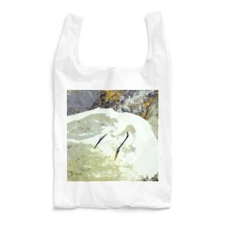 魚を狙うコサギ 2 Reusable Bag