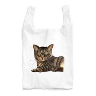 キジ柄の猫がこちらをみている Reusable Bag