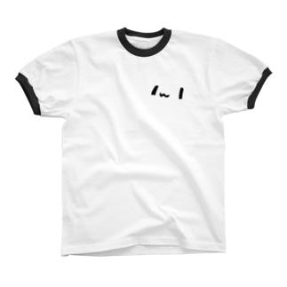 どどねこ-どアップ- リンガーTシャツ