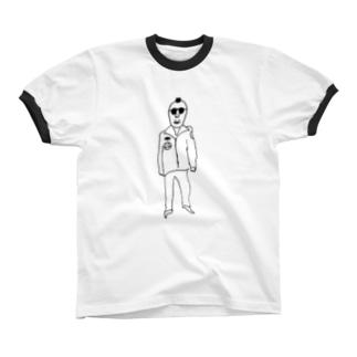 おじさん リンガーTシャツ