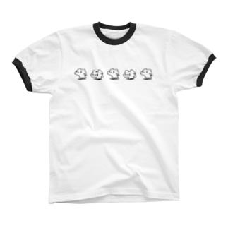 どどねこ-せいれつ- リンガーTシャツ