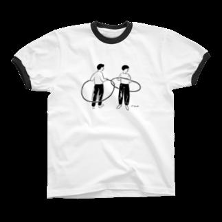 oyasmurの8リンガーTシャツ