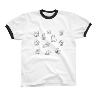 復活!全ての子犬に捧ぐ リンガーTシャツ