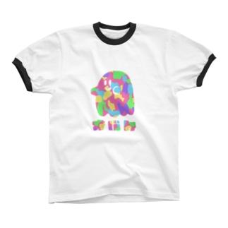 オバケ Ringer T-shirts