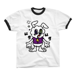 AWAWA【White】 リンガーTシャツ