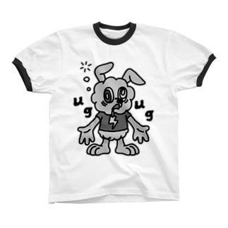 AWAWA【Gray】 リンガーTシャツ