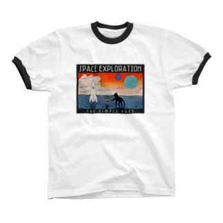 宇宙探検記シリーズ #3 リンガーTシャツ