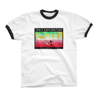宇宙探検記シリーズ #4 リンガーTシャツ