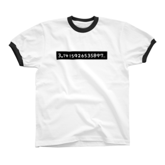28番商店街のπ= Ringer T-shirts
