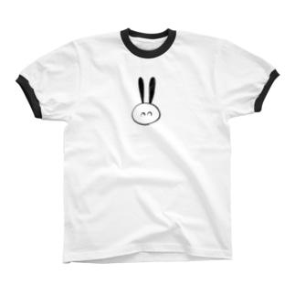 にこにこ Ringer T-shirts
