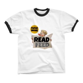 PAPER WEEK リンガーTシャツ