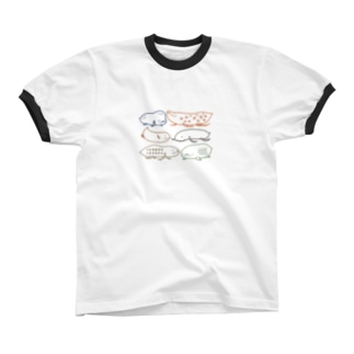 スッキリハイギョ Ringer T-shirts