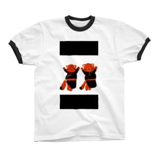 デールを着たマヌルネコ リンガーTシャツ