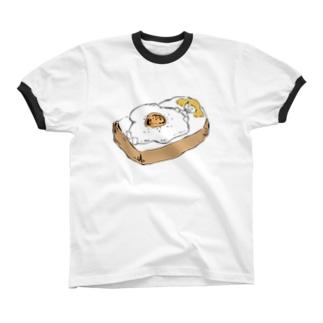 おやすみトースト リンガーTシャツ